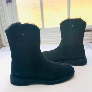 Ugg Larker Shearling Lined Boots Size 7.5 Black